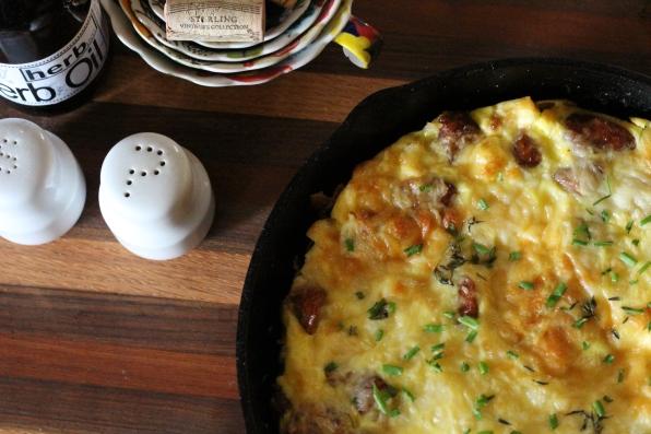 Sausage & Parmesan Frittata