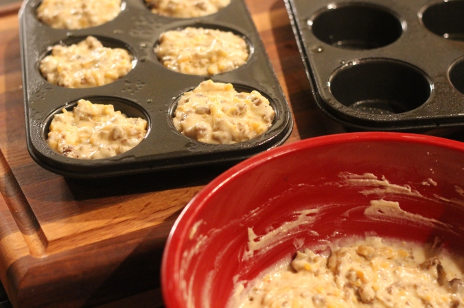 Sausage & Cheese Muffin Batter