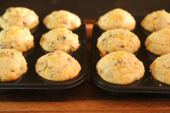 Sausage & Cheese Buttermilk Muffins