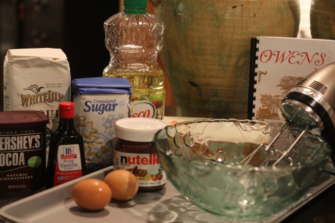 Ingredients for Old Fashioned Drop Sugar Cookies with Nutella
