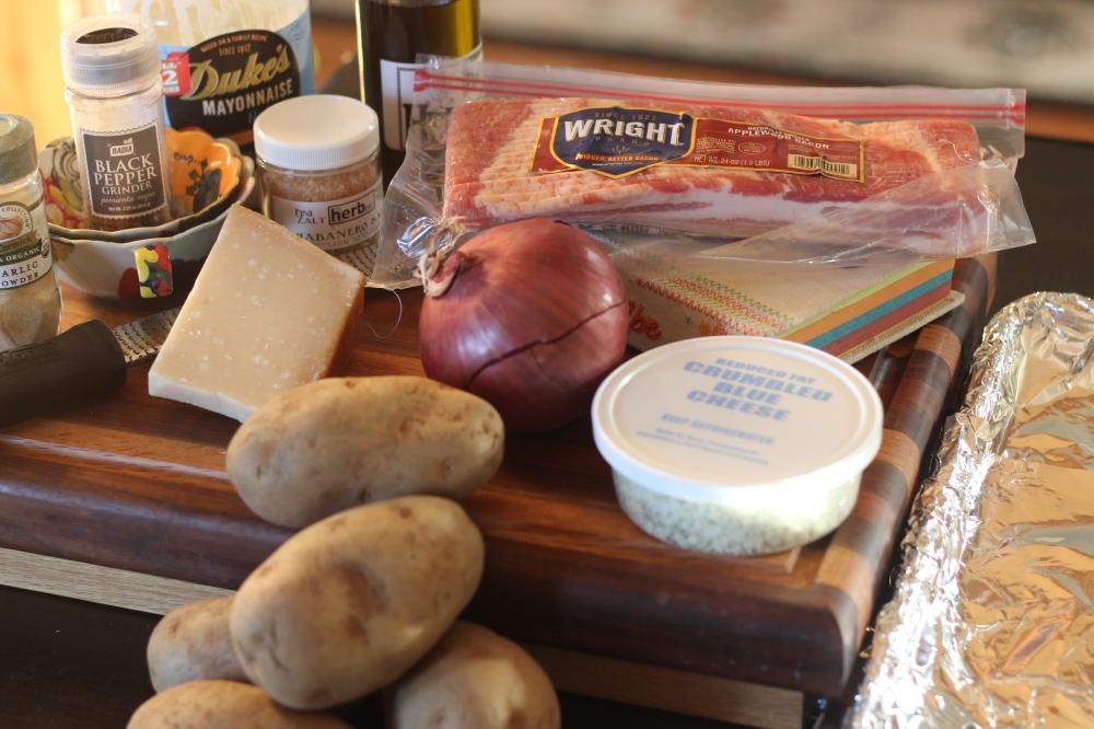 Grilled Potato Salad Ingredients