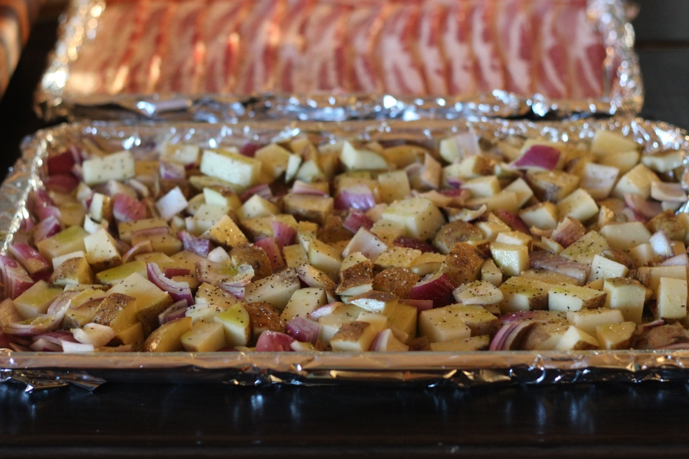 Roasted Potatoes & Oven Cooked Bacon