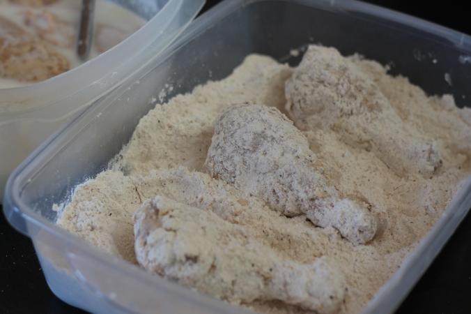 Flour Battered Chicken Legs