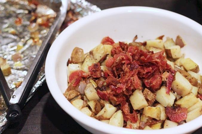 Roasted Potatoes, Onions & Bacon