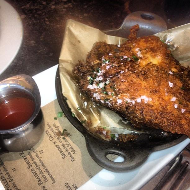 Sweet Tea Brined, Buttermilk Fried Chicken with a Sriracha, Honey ...